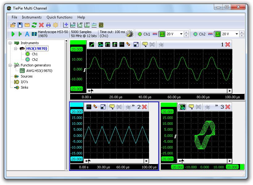Digital Oscilloscope Software : Tiepie multi channel oscilloscope software boteg cz